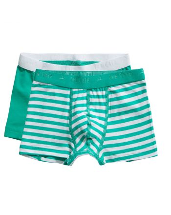 Ten Cate Jongens Boxershort 2Pack Stripe and Mint 2-10Y Boys