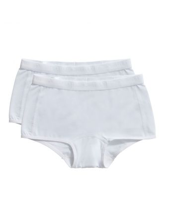 Ten Cate Meisjes Short 2Pack  White 2-10Y Girls