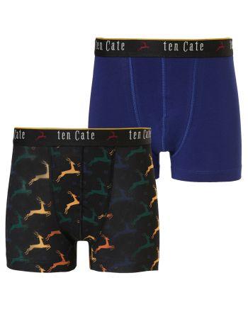 Ten Cate Jongens Boxershort Colourful Deer 2Pack 10-18Y