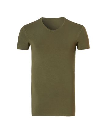 Ten Cate Heren Bamboo V-hals T-shirt Black Iris