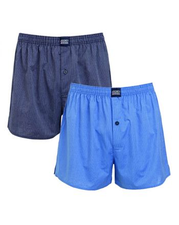 Jockey Boxershort Klassiek 2Pack Basic Blue stripe