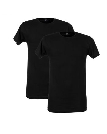 Alan Red T-Shirt Derby 2Pack Zwart