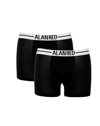 Alan Red Boxershort Lasting 2 Pack Black