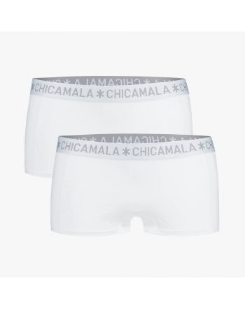 ChicaMala BASIC Short Wit 2Pack Dames Ondergoed