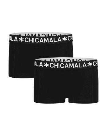 ChicaMala BASIC Short Zwart 2Pack Meisjes Ondergoed