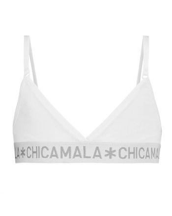 ChicaMala BASIC Triangle Top Wit Meisjes Ondergoed