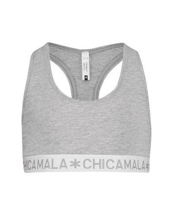 ChicaMala BASIC Racerback Top Grijs Meisjes Ondergoed