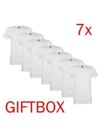 Alan Red T-Shirt Vermont Giftbox 7Pack Wit