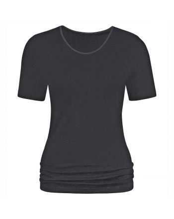 MEY Dames Emotion T-Shirt Zwart 56201
