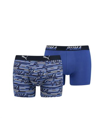 Puma Boxershort 2Pack Logo AOP Blauw