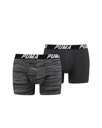 Puma Boxershort 2 pack Spacedye Stripe Zwart