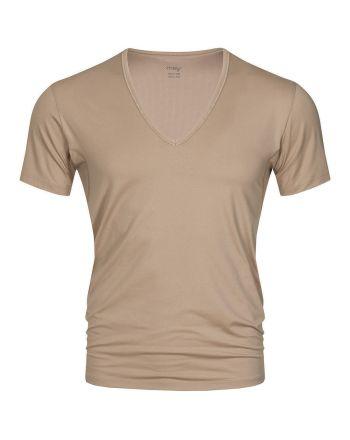 MEY Heren V-neck Nude Dry Cotton Het Eronderhemd Business Shirt 46038