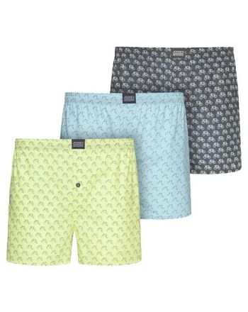 Jockey Boxershort Cyclists Woven 3Pack Dark Iron