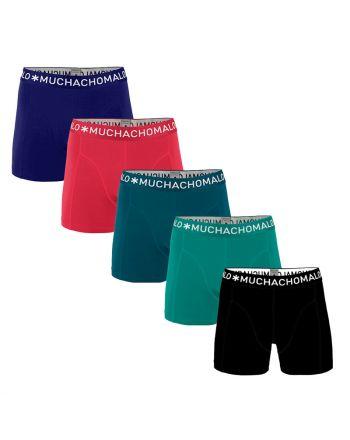 MuchachoMalo Hello Sunshine 5PACK SUPER ACTIE SOLID15 Heren Boxershorts