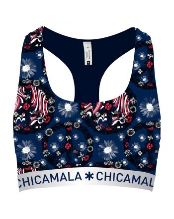 ChicaMala Flower Power Racerback Top Dames Ondergoed