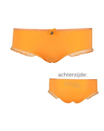 Muchachomalo dames Ruffles Brief Orange