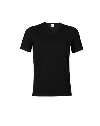 Muchachomalo heren shirt V-hals zwart