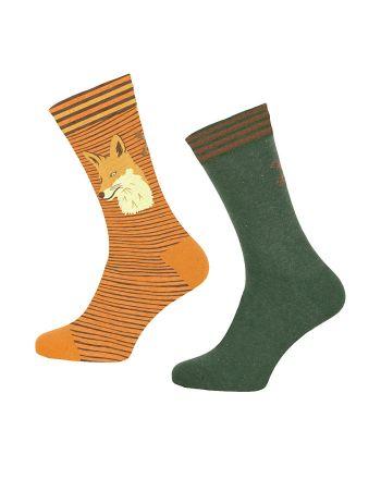 Muchachomalo sokken 2pack Fox