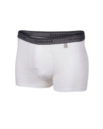 Schiesser heren 95/5 short wit