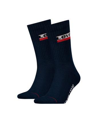 Levi's sokken 2pack Olympic logo donkerblauw
