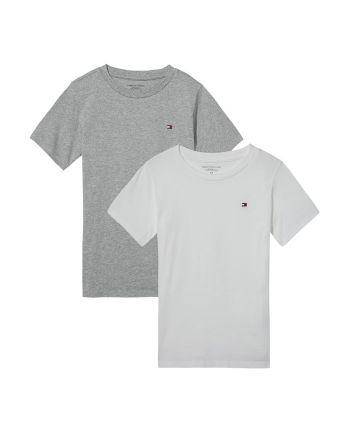 Tommy Hilfiger jongens T-shirts 2pack wit/grijs