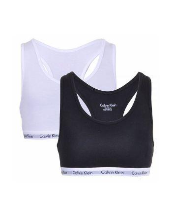 Calvin Klein meisjes bralette 2pack zwart wit