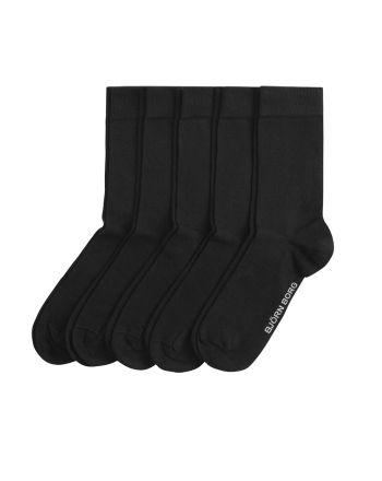 Björn Borg Essential sokken 5pack Zwart