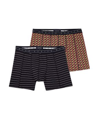 Scotch and Soda heren 2pack Stripes & Squares