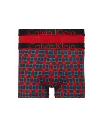 Calvin Klein heren 2pack Trunks Madison Check / Red