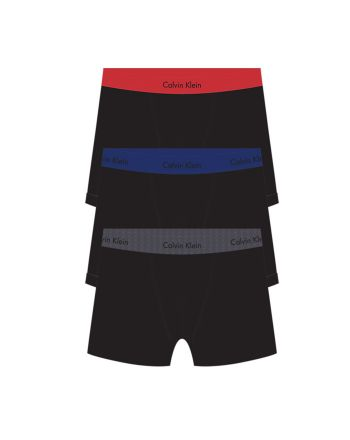 Calvin Klein heren 3pack boxershorts red, blue & charcoal
