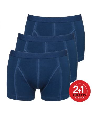 Ten Cate Mannen Basic Shorty 3Pack Navy 2+1 gratis