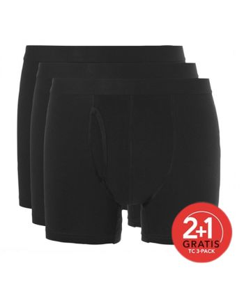 Ten Cate Mannen Basic Boxer Pack Zwart 2+1 gratis