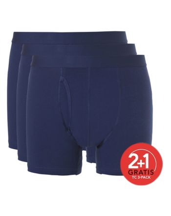 Ten Cate Mannen Basic Boxer Navy 2+1 Gratis 3pack