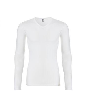 Ten Cate Mannen Thermo V-Shirt Longsleeve Sneeuw Wit