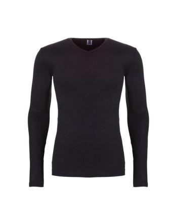 Ten Cate Mannen Thermo V-Shirt Longsleeve Zwart