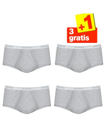 Sloggi Men Basic Maxi Grey 4Pack, 3+1 gratis
