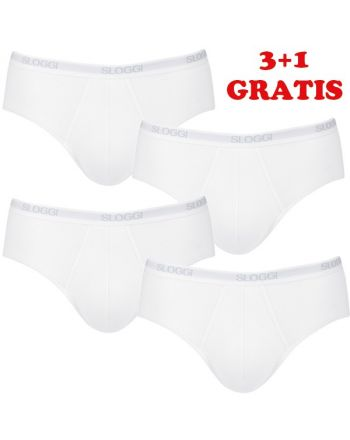 Sloggi Men Basic Midi White 4Pack, 3+1 gratis