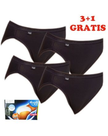 Sloggi Women Basic tai Slip 4 pack Black 3+1 gratis