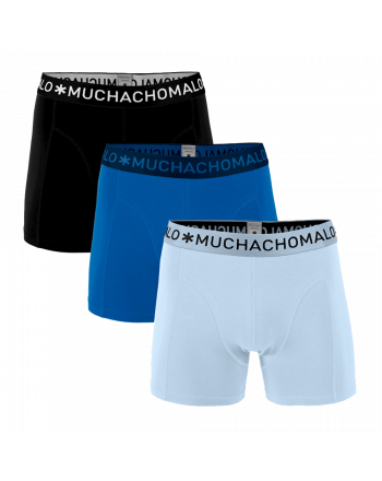 MuchachoMalo 3Pack SOLID 301 Dark Blue Blue Black Heren Boxershorts