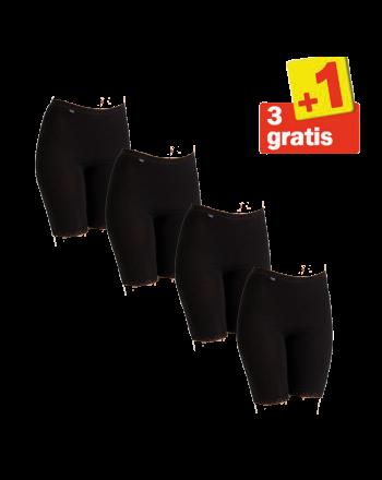Sloggi Basic Long 4 pack Zwart 3+1 Gratis