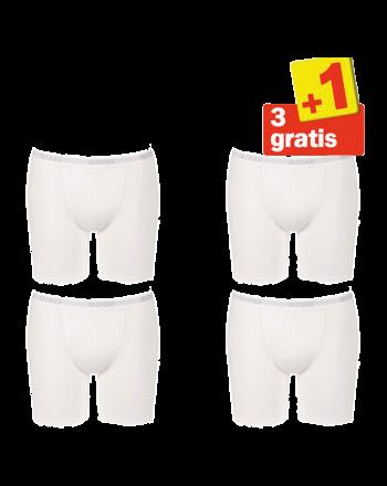 Sloggi Men Basic Long Boxershort 4 pack Wit 3+1 Gratis