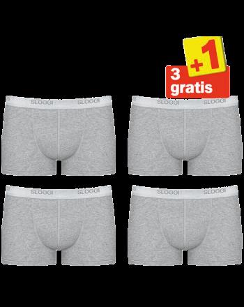 Sloggi Men Basic Short 4pack Grijs 3+1 Gratis