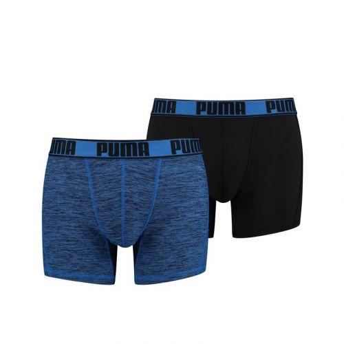 Puma Active Boxer Grizzly Melange Blauw 2Pack Heren Short