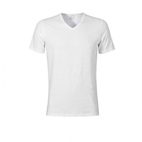 Muchachomalo heren shirt V-hals wit
