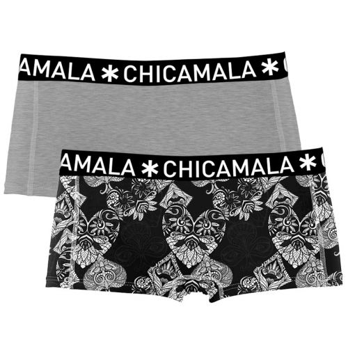 ChicaMala 2Pack Casino Royale Shorts Dames Ondergoed