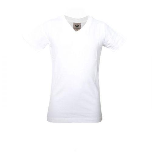 Muchachomalo jongens basic shirt wit (V-hals)