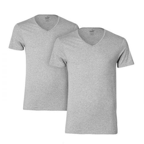 Puma 2pack T-Shirt V-Hals Grijs