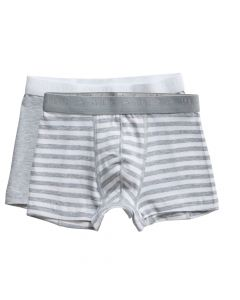 Ten Cate Jongens Boxershort 2Pack Stripe and Light Grey Melee 2-10Y Boys