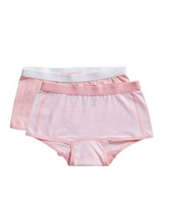 Ten Cate Meisjes Short 2Pack  Stripe and Candy Pink 2-10Y Girls