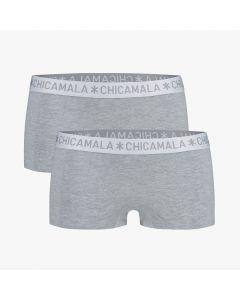 ChicaMala BASIC Short Grijs 2Pack Dames Ondergoed